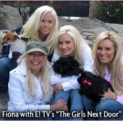 Fiona with the Girls Next Door